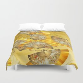 Fächer - fan Duvet Cover