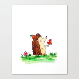 Howie the Hedgehog Canvas Print