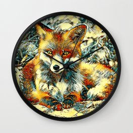 AnimalArt_Fox_20170901_by_JAMColorsSpecial Wall Clock