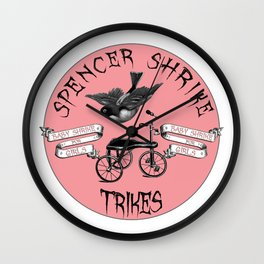 Shrike Trikes for Girls Wall Clock