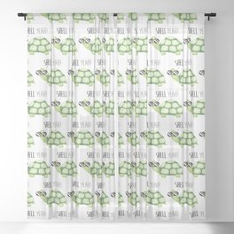 Shell Yeah - Funny Turtle Sheer Curtain