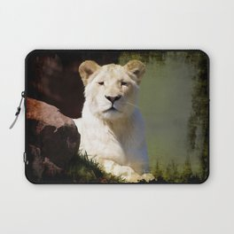 Noble Beast - Rare White Lion Laptop Sleeve