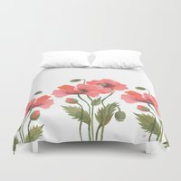 poppies Duvet Covers featuring POPPIES by Oana Befort