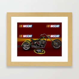 3ds 3 wheel #NASCAR chopper design by Scott Bates @ernhrtfan Framed Art Print