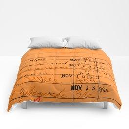 Library Card 23322 Orange Comforters