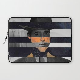 """Modigliani's """"Portrait of a Man with Hat"""" & Humprey Laptop Sleeve"""