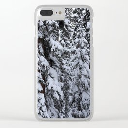 Snowy Abyss Clear iPhone Case