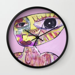 Pink Tranquil Wall Clock