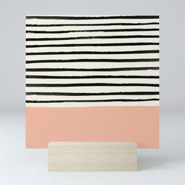 Peach x Stripes Mini Art Print