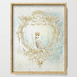 Owl Let it Snow Serving Tray