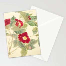 Red flowers , red flowers Stationery Cards