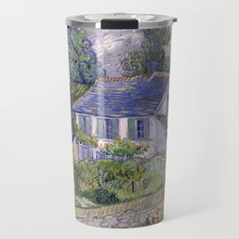 Vincent van Gogh - Houses at Auvers (1890) Travel Mug