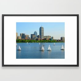 Boston in the Summer Framed Art Print