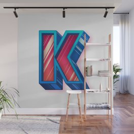 The Letter K Wall Mural