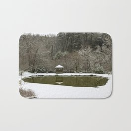 Snow at the Pond Bath Mat