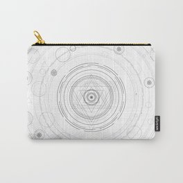 Black and white sacred geometry circle Carry-All Pouch