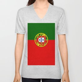 Flag of Portugal Unisex V-Neck
