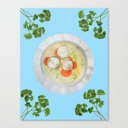 Passover Matzo Ball Soup (blue) Canvas Print