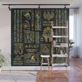 Ancient Egyptian Hieroglyph Sphinx Pyramid Wall Mural