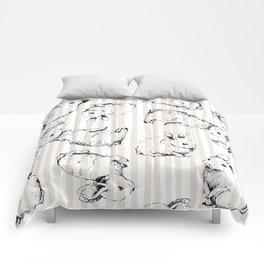 Vintage Bunnies Comforters