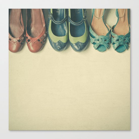 The Shoe Collection Canvas Print