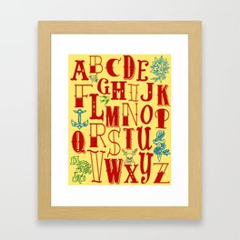 Tattoo Alphabet Framed Art Print