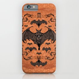 Bats and Filigree - Halloween iPhone Case