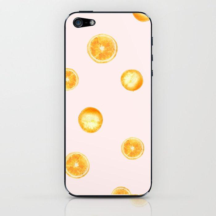 Orange watercolor iPhone Skin