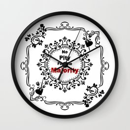 No pity for the majority - eng Wall Clock