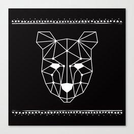 Totem Festival 2015 - White & Black Canvas Print