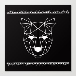 Totem Festival 2015 - White & Black Canvas Print