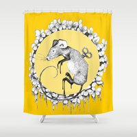 mouse Shower Curtains featuring Mouse by RiRi.in.Berlin