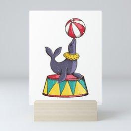 Circus Seal Mini Art Print
