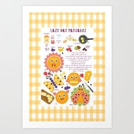 Lazy Day Pancakes Art Print