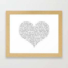 I love You (In 20 Languages) Framed Art Print