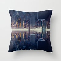 inception Throw Pillows featuring Inception by Thomas Richter