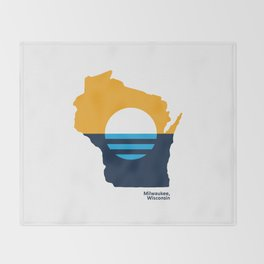 Wisconsin - People's Flag of Milwaukee Throw Blanket