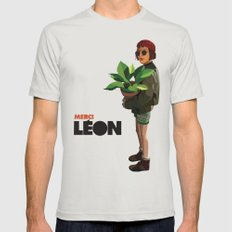 Mathilda, Leon the Professional Silver Mens Fitted Tee SMALL