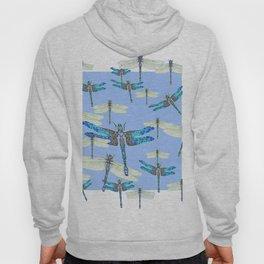 BLUE & GOSSAMER WHITE  DRAGONFLY SEASON ART Hoody