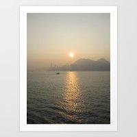 Hong Kong Ocean View Art Print