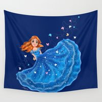 cinderella Wall Tapestries featuring Cinderella by Mayying