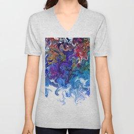 Color cascade Unisex V-Neck