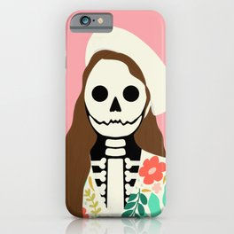 Lorelei Skelly in Soft Pink | Modern Portrait  iPhone Case