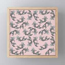 Koi Fish Pattern Framed Mini Art Print