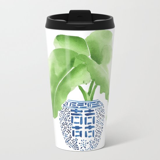 Ginger Jar + Elephant Ears Metal Travel Mug