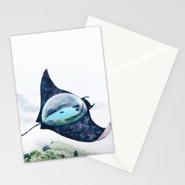 Space Manta Ray Stationery Cards