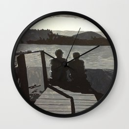 Gold Pond Wall Clock