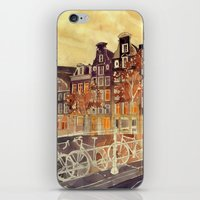 amsterdam iPhone & iPod Skins featuring Amsterdam by takmaj