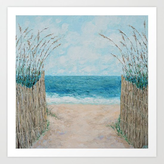 Sandbridge Shores Art Print
