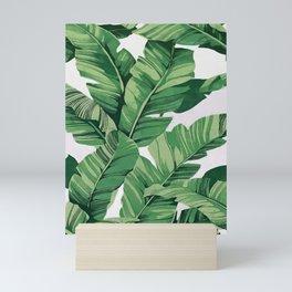 Tropical banana leaves VI Mini Art Print